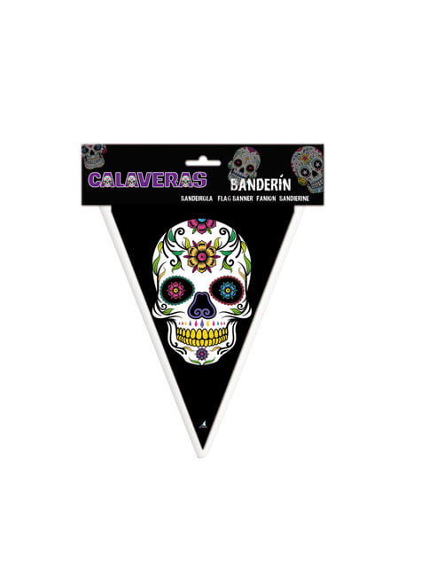 Banderín de Catrina Día de los muertos