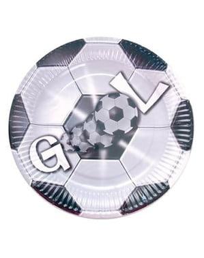 8-teiliges GOOL Fußball Teller Set groß