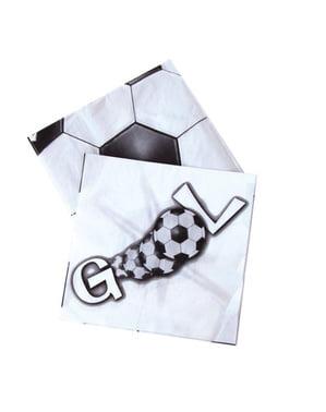20 GOAL napkins (33x33 cm)