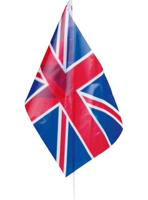 Bandeira do Reino Unido de plástico