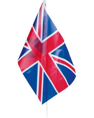 Bandera de Reino Unido de plástico