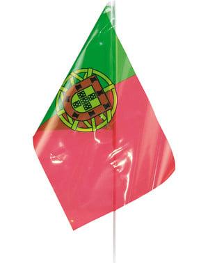 Bandera de Portugal de plástico