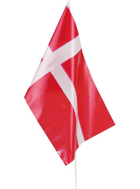 Bandera de Dinamarca de plástico