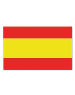 Bandeira de Espanha de plástico