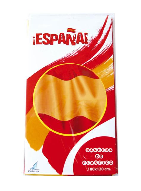 Bandera de España de plástico