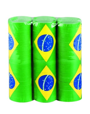 Set of Brazil streamers