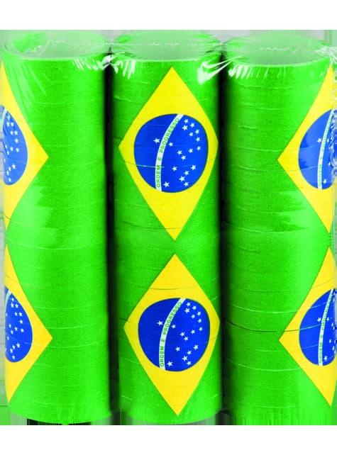 Set de serpetinas Brasil - para tus fiestas
