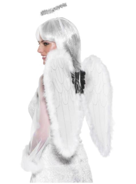Valkoiset enkelin asusteet