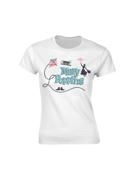 Mary Poppins T-Skjorte til Dame i Hvit - Disney