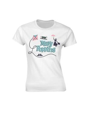 Biała koszulka Mary Poppins dla kobiet - Disney