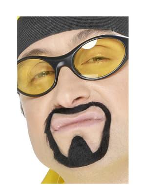Moustache et bouc de râpeur