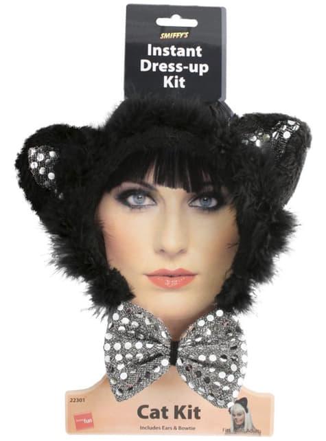 Zestaw kotka glamour damski