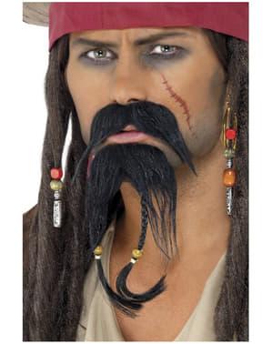 Sæt med pirat ansigtsbehåring