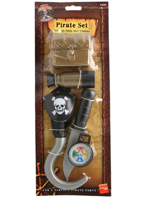 Klassisk Kvinnelig Pirat Sett