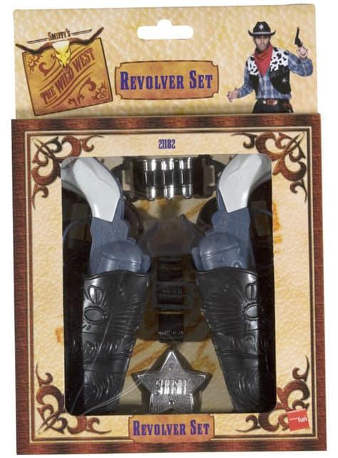 Sada revolverů western