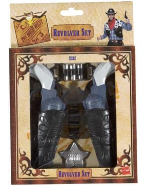 Zestaw rewolwer kowboja
