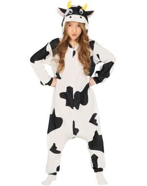 Fato de vaca onesie infantil