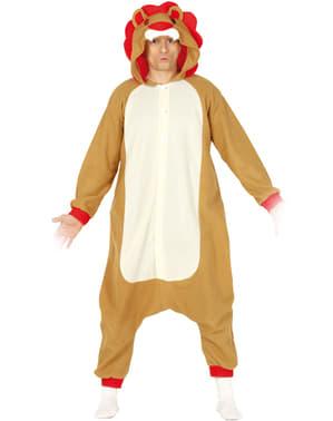 Costume da leone onesie per adulto