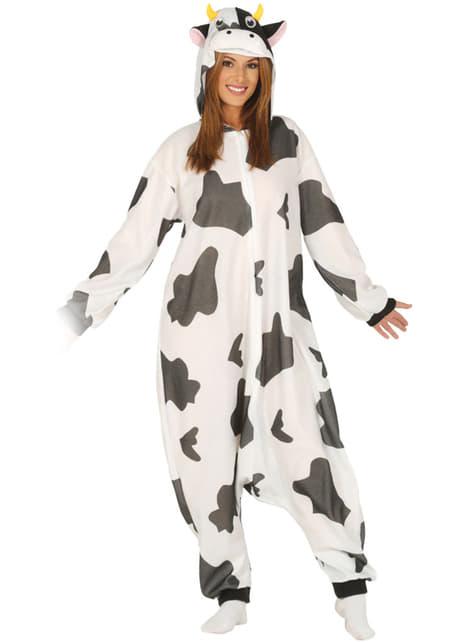 Fato de vaca onesie para adulto