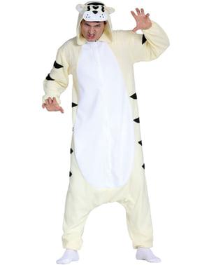 Katt onesie kostyme til voksne