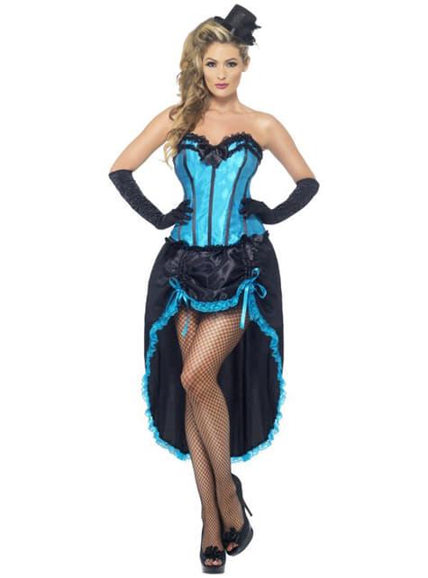 Disfraz de bailarina burlesque azul