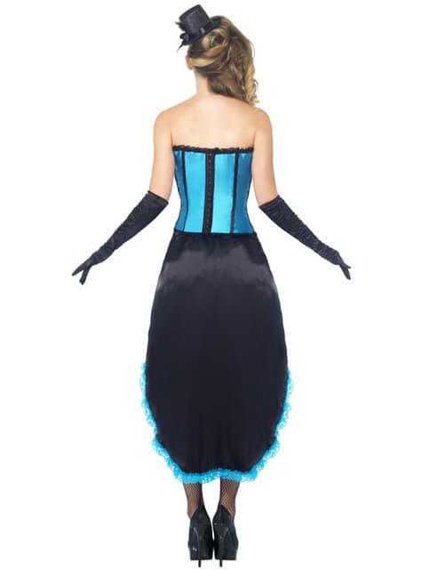 Disfraz de bailarina burlesque azul - mujer