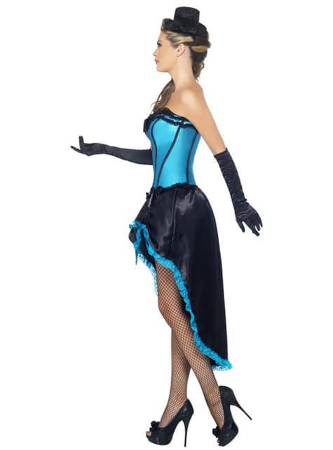 Disfraz de bailarina burlesque azul - original