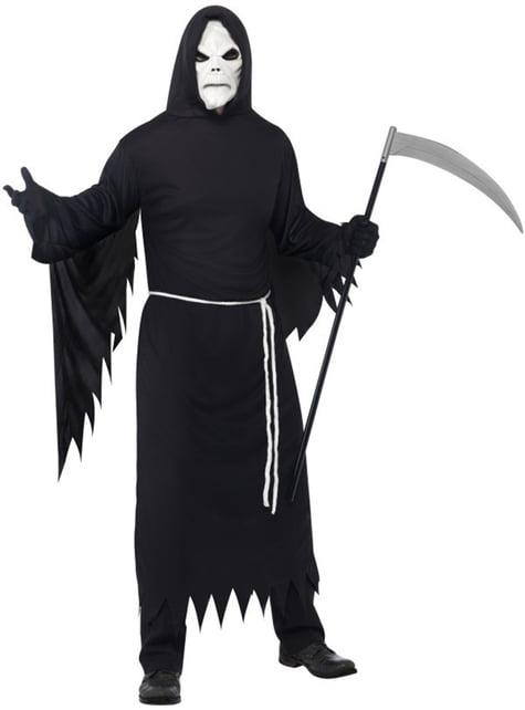 Fato da morte com máscara