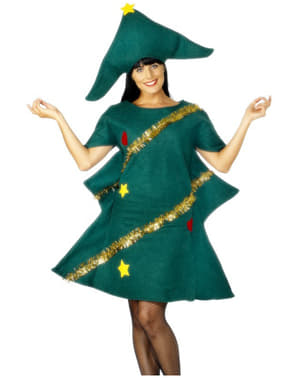 Déguisement sapin de Noël adorable pour femme
