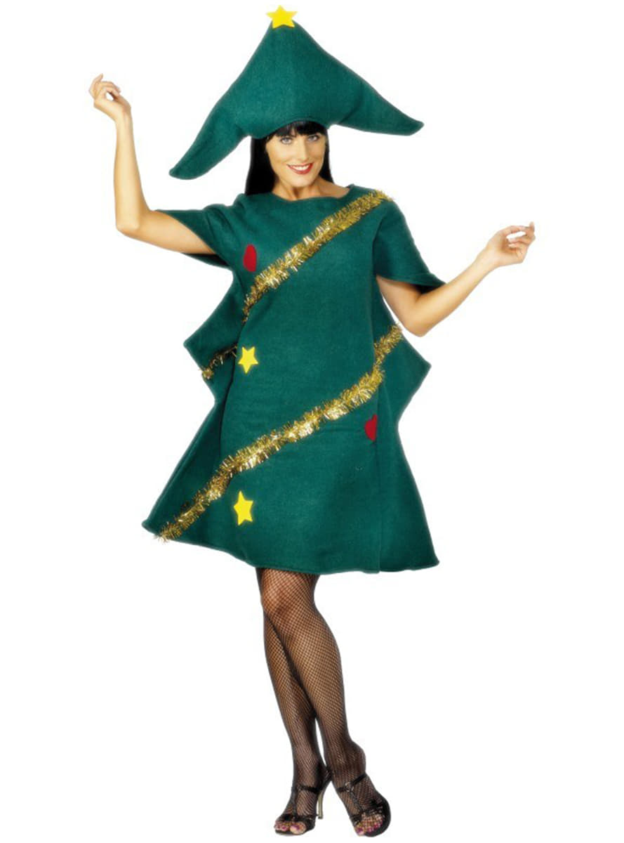 Christmas tree girl adult costume buy online at funidelia