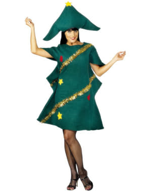 Disfraz de árbol navideño para mujer