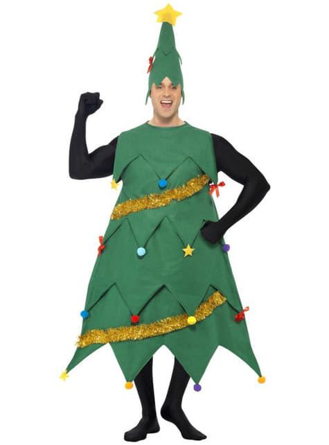 デラックスクリスマスツリーアダルトコスチューム