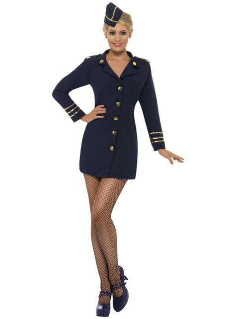 Disfraz de azafata de avión sexy para mujer