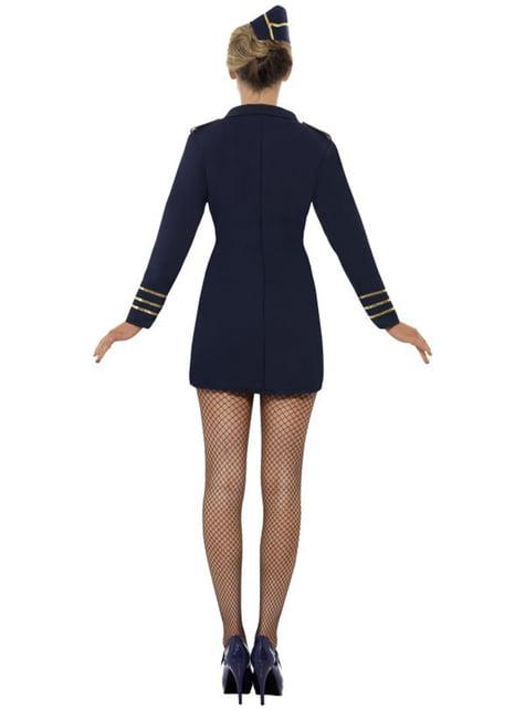 Disfraz de azafata de avión sexy para mujer - mujer