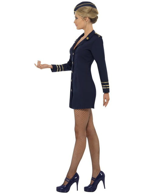 Disfraz de azafata de avión sexy para mujer - original