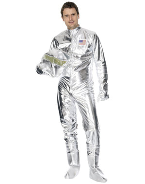 Astronauten Kostüm Deluxe silber