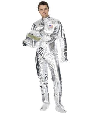 Disfraz de astronauta plateado deluxe