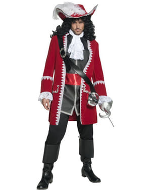 Deluxe Piratkapten Maskeraddräkt