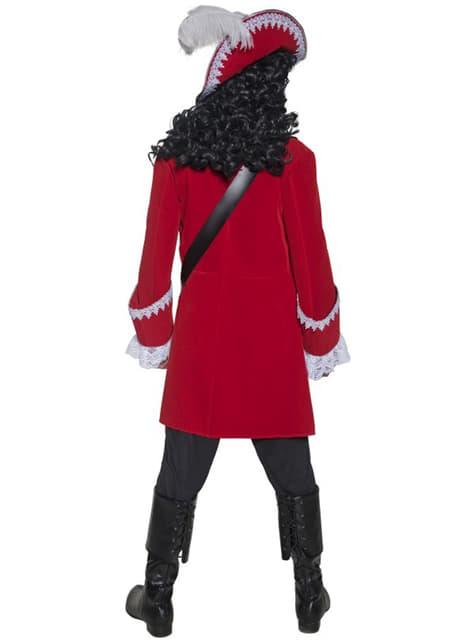 Disfraz de capitán pirata deluxe - hombre