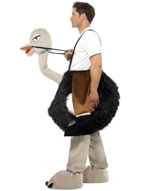 Kostým pro dospělé jezdec na pštrosovi