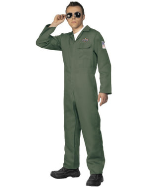 Green Pilot Adult Costume