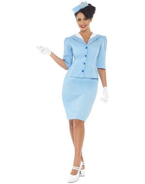 Elegante Stewardess Kostüm