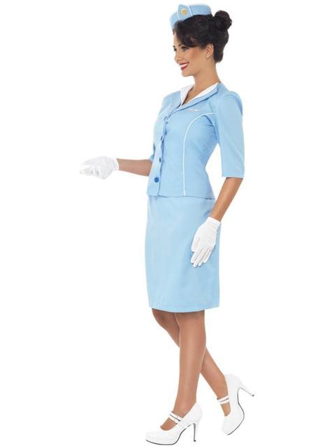 Disfraz de azafata de avión elegante - mujer