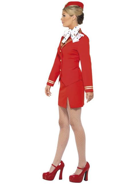 Flygvärdinna Maskeraddräkt röd för henne