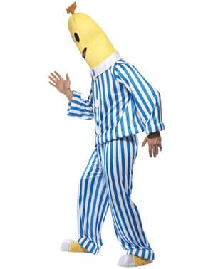 パジャマアダルトコスチュームのバナナ