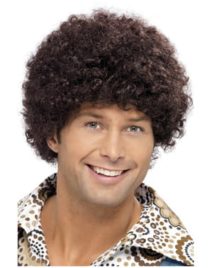 Peruka afro dla disco chłopaka