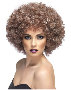 Mega Sized Light Brown Afro Wig