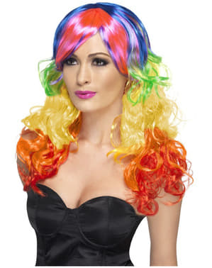Curly Rainbow Wig