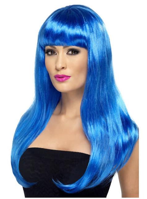 Peluca sexy en azul