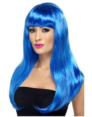 Seksikäs sininen peruukki